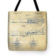 1975 Space Vehicle Patent - Vintage Tote Bag