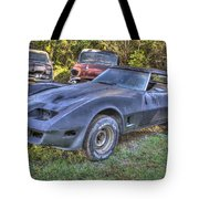 1977 Corvette Black Tote Bag