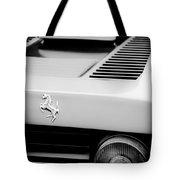 1979 Ferrari Taillight Emblem -0378bw Tote Bag