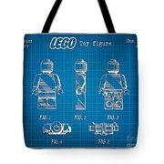 1979 Lego Minifigure Toy Patent Art 1 Tote Bag