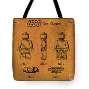 1979 Lego Minifigure Toy Patent Art 4 Tote Bag