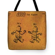 1979 Lego Minifigure Toy Patent Art 5 Tote Bag
