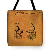 1979 Lego Minifigure Toy Patent Art 6 Tote Bag