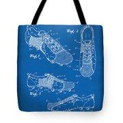 1980 Soccer Shoes Patent Artwork - Blueprint Tote Bag