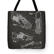 1980 Soccer Shoes Patent Artwork - Gray Tote Bag