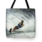 1980s Man Waterskiing Making Fan Tote Bag