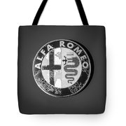 1986 Alfa Romeo Spider Quad Emblem Tote Bag
