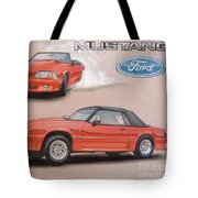 1991 Ford Mustang Tote Bag