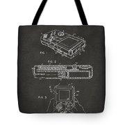 1993 Nintendo Game Boy Patent Artwork - Gray Tote Bag