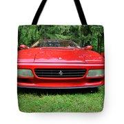 1993 Red Ferrari 512 Tr Tote Bag