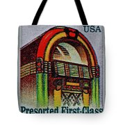 1995 Jukebox Stamp Tote Bag