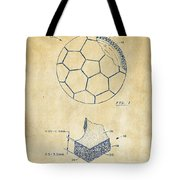 1996 Soccerball Patent Artwork - Vintage Tote Bag