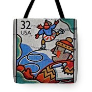 1996 Winter Skaters Stamp Tote Bag
