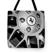 1997 Ferrari F 355 Spider Wheel Emblem -125bw Tote Bag