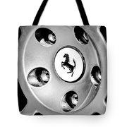 1997 Ferrari F 355 Spider Wheel Emblem -201bw Tote Bag