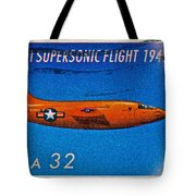 1997 First Supersonic Flight Stamp Tote Bag