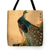19th C. Japanese Peacock Tote Bag
