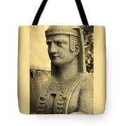 19th Century Granite Stone Sepia Sphinx Bust Poster Look Usa Tote Bag