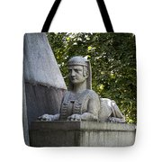 19th Century Granite Stone Sphinx Pyramid Color Poster Look Usa Tote Bag