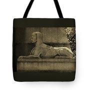 19th Century Granite Stone Sphinx Sepia Profile Poster Look Usa Tote Bag