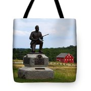 1st Pennsylvania Cavalry Defending Cemetery Ridge Tote Bag