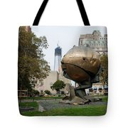 1w T C And The W T C Fountain Sphere Tote Bag