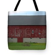 Large Red Barn Tote Bag