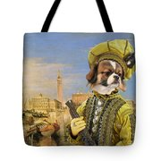 Tibetan Spaniel Art Canvas Print Tote Bag