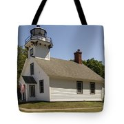 1870 Mission Point Lighthouse Tote Bag