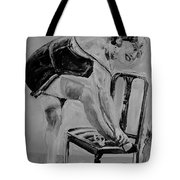 1920s Girl Black And White Tote Bag