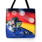 1931 Bentley 4.5 Liter Supercharged Le Mans Hood Emblem -1122c Tote Bag