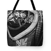 1931 Bentley 4.5 Liter Supercharged Le Mans Steering Wheel -1255bw Tote Bag