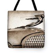 1937 Cadillac V8 Hood Ornament Tote Bag