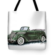 1937 Ford 4 Door Convertible Tote Bag