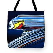 1939 Pontiac Silver Streak Chief Hood Ornament Tote Bag