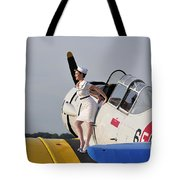 1940s Style Pin-up Girl Sitting Tote Bag