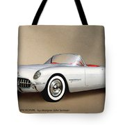 1953 Corvette Classic Vintage Sports Car Automotive Art Tote Bag by John Samsen