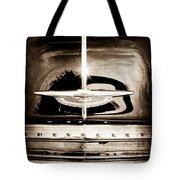 1954 Chevrolet Deluxe Grille Emblem Tote Bag