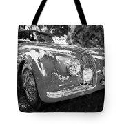 1954 Jaguar Xk 120 Se Ots  Bw Tote Bag
