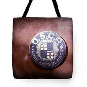 1954 O.s.c.a. Mt4 Maserati Emblem Tote Bag