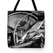 1956 Chevrolet Belair Steering Wheel Tote Bag