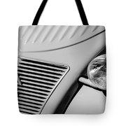 1956 Citroen 2cv Grille -0081bw Tote Bag