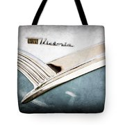 1956 Ford Crown Victoria Glass Top Emblem Tote Bag