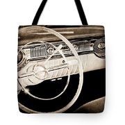 1956 Oldsmobile Starfire 98 Steering Wheel And Dashboard Tote Bag