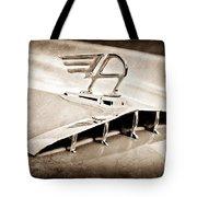 1957 Austin Cambrian 4 Door Saloon Hood Ornament Tote Bag