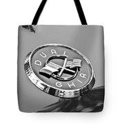 1957 Dual-ghia Convertible Emblem Tote Bag