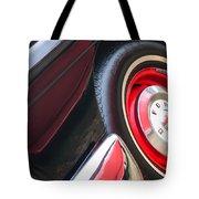 1957 Ford Fairlane Convertible Wheel Emblem Tote Bag