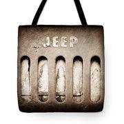 1957 Jeep Emblem Tote Bag