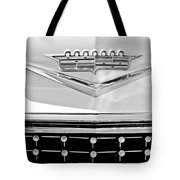 1958 Cadillac Eldorado Biarritz Convertible Emblem Tote Bag by Jill Reger
