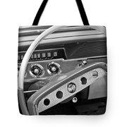 1961 Chevrolet Impala Ss Steering Wheel Emblem Tote Bag